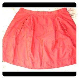 J Crew • Skirt Size 12 • Coral • Knee length